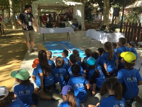 Tallers de robòtica per l'escola Freta a la Fira de Calella i l'Alt Maresme 2015