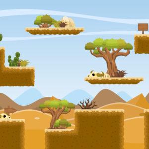 Fons Game Art 2D Videojocs Plataformes Desert